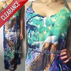 CLEARANCE Multi Colored Stunning Maxi Dress