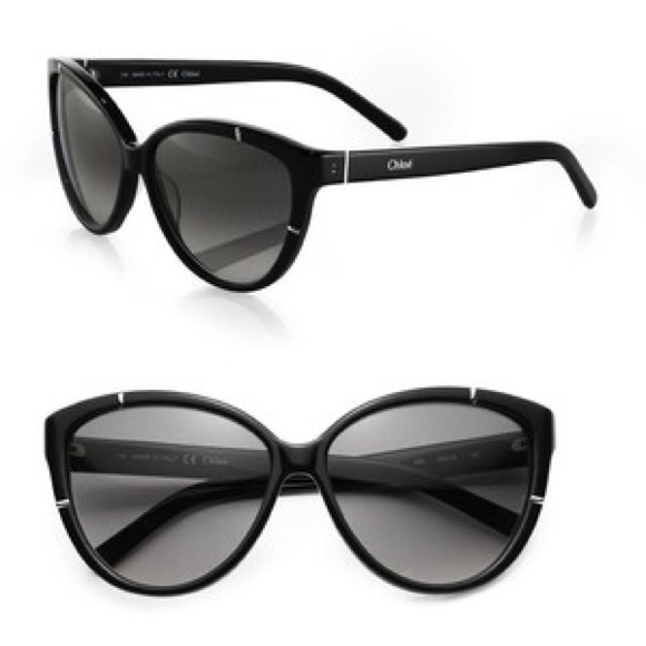 eb065ca68cd Chloe AUTHENTIC black cat eye sunglasses
