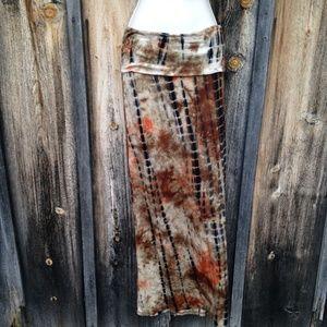 Sadie & Sage Dresses & Skirts - NWT Orange Black Tie Die Long Skirt Size S