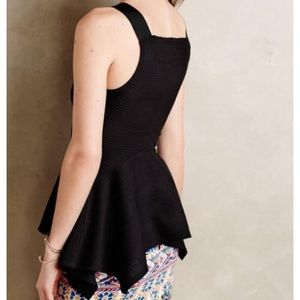 Anthropologie Tops - Anthropologie Peplum Tank Top, Black, Size XSP