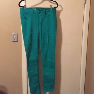 Sold Denim - Emerald green Spring Street skinny pull on Jean