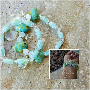Salty Grace  Jewelry - Mint / aqua  ocean nautical bracelets