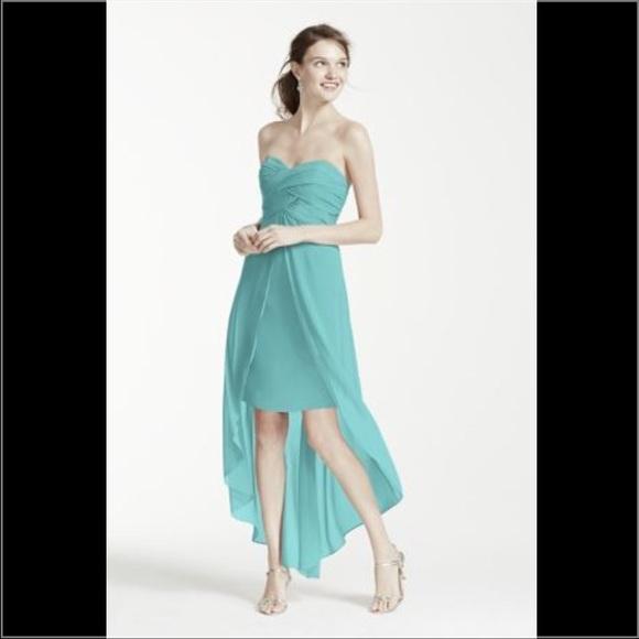 33 off david 39 s bridal dresses skirts strapless high for High low wedding dress davids bridal