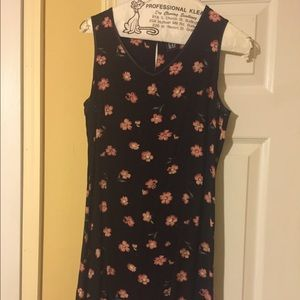 GAP black dress with pink flowers