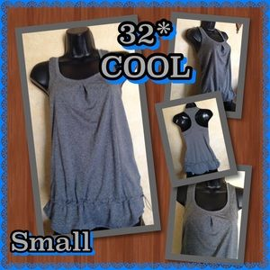 32 Degrees Tops - 32 Degrees COOL- Racerback Long Tank/Cover- small