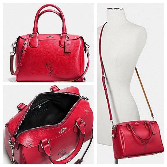 46% off Coach Handbags - 🌸 NEW COACH SNOOPY MINI BENNETT SATCHEL ...