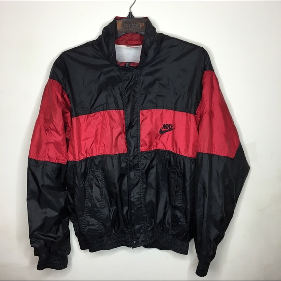 Jackets   Blazers - Vintage Red and Black Nike Jacket e669332c2