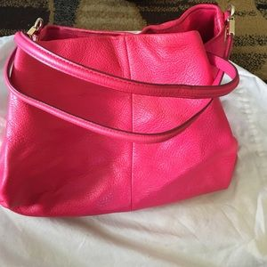 881d118b8c30c pink leather coach purse