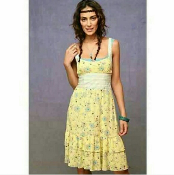 Free People Yellow Floral Dress 988682e5a