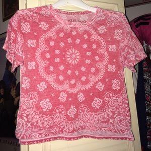 Red bandana pattern crop top! XS. L.O.L. Vintage