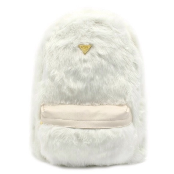 a189213ef4f0 NWT Joyrich Candy Fur White Backpack