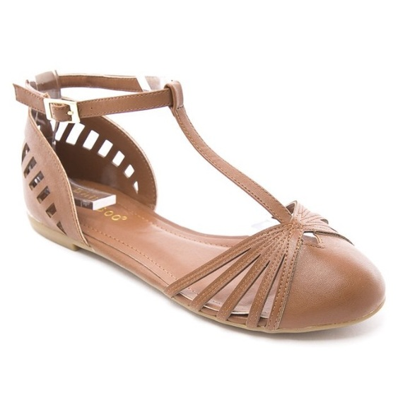 193c02d6a Bamboo Shoes - Bamboo Chestnut T-Strap D Orsay Flat