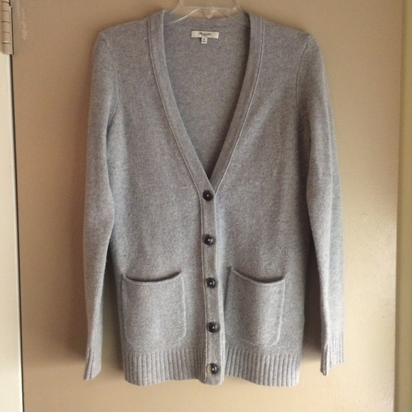 58% off Madewell Sweaters - Madewell Gray Cardigan 100% Wool! from ...