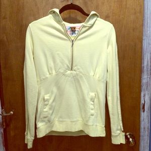 Paul Frank Tops - Light yellow Paul Frank 1/2 zip hoody.