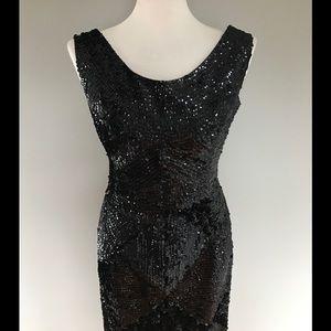 60s Vintage Sequined Cocktail Dress