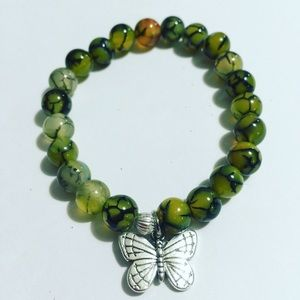 Authentic Dragon Vein healing stone - bracelet