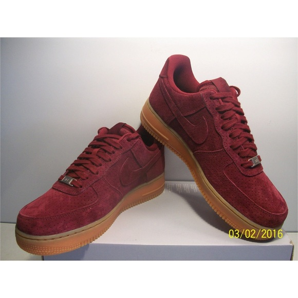 Nike Shoes -  07 Suede Deep Garnet Gum Air-force 1 Low Tops 97229c9346