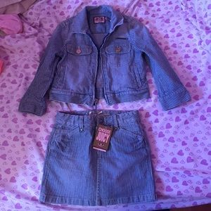 Toddler Juicy Couture jacket and Skirt set