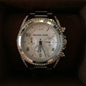 Michael Kors Women Blair Silver-Tone Watch MK5165