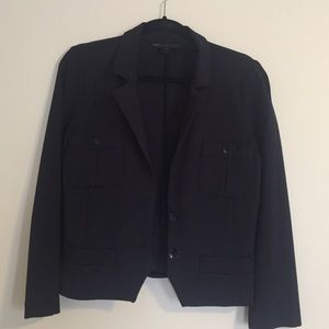 Marc by Marc Jacobs Navy Fitted Blazer