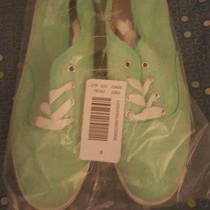 Seafoam green sneakers