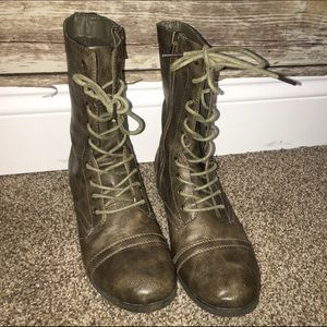 Women's Stone Color Combat Boots on Poshmark