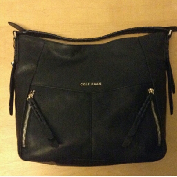 14081d820979 NWT Cole Haan Felicity Black Leather Hobo
