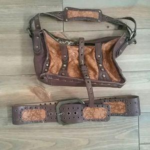 Betsy johnson belt and bag set