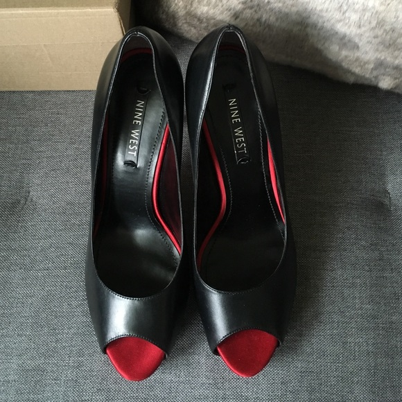 ebdb2da06a33 36% off Nine West Shoes - NineWest Red Bottom peep toe leather .