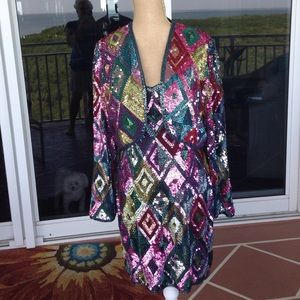 All Sequin & beaded Dress w/ matching jacket