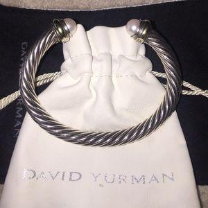 David Yurman Jewelry - David Yurman Pearl & Gold Bracelet