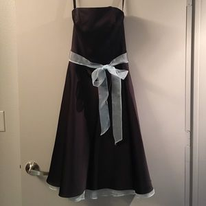 Alfred Angelo Dresses & Skirts - Black strapless dress with blue accents