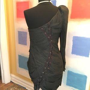 camilla & marc Dresses & Skirts - Camilla & Marc LaceUp Li'l Black Dress•Retail $598