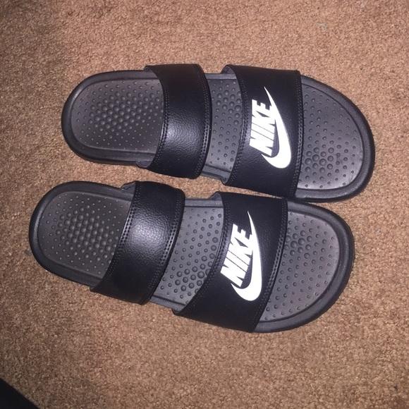 b1c7affe76b533 Nike Shoes - Double strap Nike slides