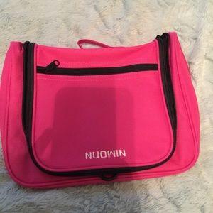 Pink travel make up case