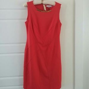 CK coral sheath dress NWT