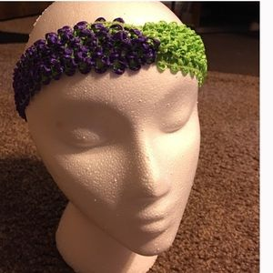 Simply Splendid Creations Accessories - Grape & Lime Stretch Hairband