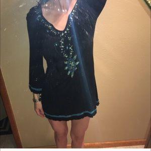 Krista Lee Dresses & Skirts - sale Krista LEE dress. Black w/ beading
