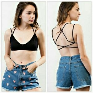 April Spirit Other - Black strappy bra!!