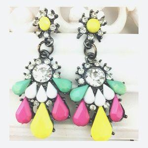 Chunky Neon Gem Drop Earrings