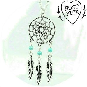 Jewelry - |SALE| BOHO Dream Catcher Feather Necklace
