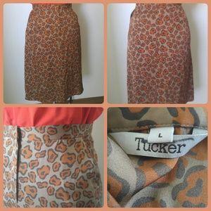 Tucker Silk Skirt