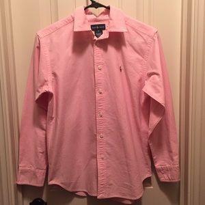 Ralph Lauren Boys Pink Button Down