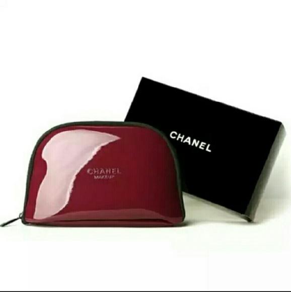 abf852fe53a2 CHANEL Bags | Burgundy Red Makeup Bag | Poshmark