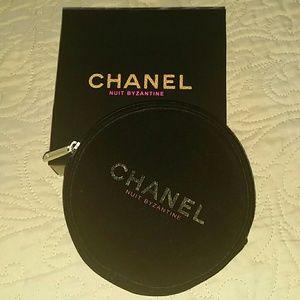 CHANEL Handbags - Velvet Chanel makeup case pouch  Box