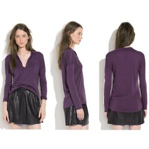Madewell Pocket Polo in purple