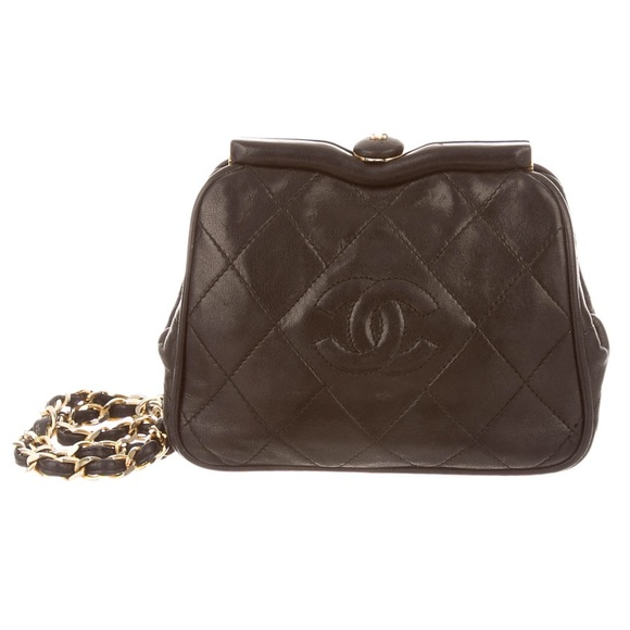 f21d407185 Small Chanel Tassel Quilted Frame Bag