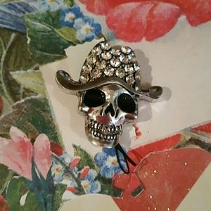 Jewelry - Day of the Dead Sugar Skull pin