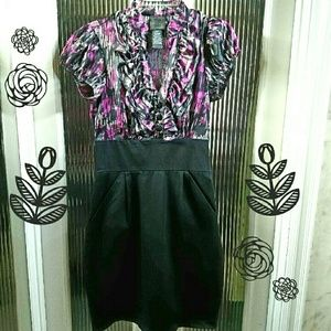 Fitted Dress with Pockets NWOT