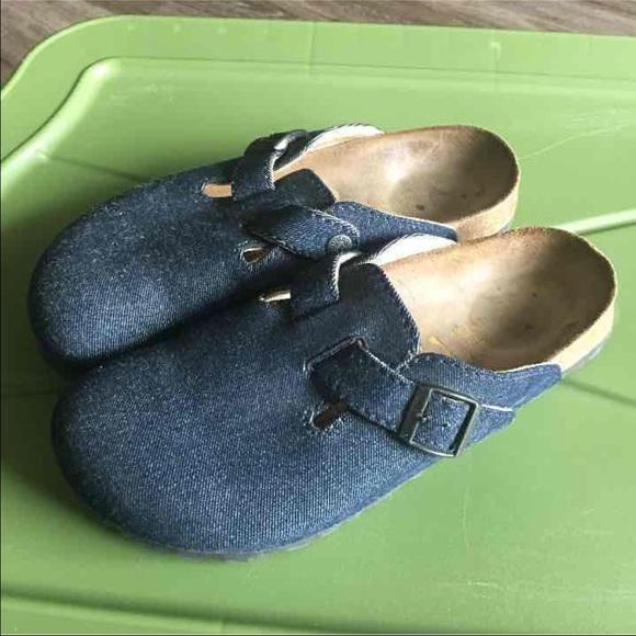 95cef13a2e4 Birkenstock Shoes - Birkenstock denim Boston clogs size 40